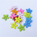 30 Flower Buttons - Assorted Colours