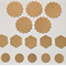 15 x gold glitter punchies
