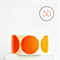 Orange Circle Stickers {50} Large 50mm | Gift Envelope Seals DIY Supplies Events