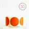 Matte Orange Circle Stickers {50} Large 45mm | Gift Envelope Seals DIY Supplies