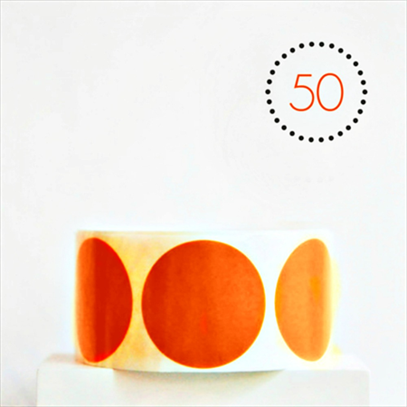 Orange Matte Circle Stickers {50} Large 45mm | Gift Envelope Seals DIY Supplies