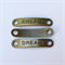 5 Bronze Handmade Charm Tag