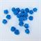 50 x Blue Rose Flower  Flatback Cabochon