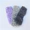 3 Purple & Grey Crochet Headbands