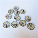 10 Eiffel Tower Clock Glass Cabochon