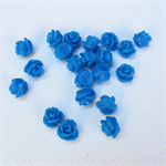 50 x Blue Rose Flower  Flatback Cabochon