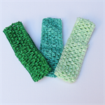 3 Green Crochet Headbands