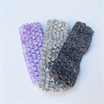 3 Purple & Grey Crochet Headbands