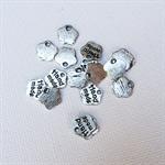 25 Silver Handmade Charm
