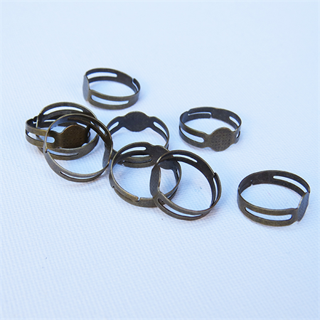 10 Bronze Tone Adjustable Rings