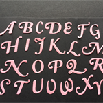 Die cuts, 4 full alphabet letters sets.