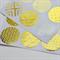 Geometric Print Gold Foil  Transparent Seals | Round Gold Stickers Seals