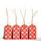 Red Pattern Tags {10}   Red Print Tags   Christmas in July
