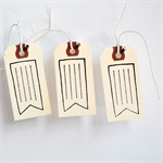 Vintage Flag Tags {10} | Pennant Tags | Merchandising Labels | Shipping Tags