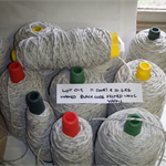 FELTED WOOL Yarn (11 cones @ 10.4kg - 2500 tex) Weaving Tapestry Rugs