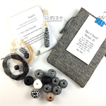 Make it yourself necklace gift kit- handcrafted polymer clay beads