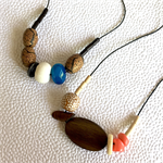 Make it yourself 2 necklaces gift kit- semi-precious and polymer clay beads