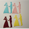 9 bride and groom diecut embellishments