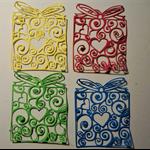 Set of 4 intricate birthday present diecut embellishments
