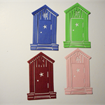 Gorgeous house diecut embellishments with opening door