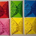 Set of 6 fancy filigree diecut embellishments or invitations.