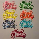 7 diecut happy birthday embellishments.