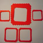 4 sets of diecut embellishment frames