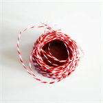 Festive {4ply} Red + White Twine {20m} Striped Bakers Twine | Christmas Twine