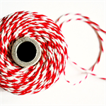Super Chunky {24ply} Red Striped Twine {5m} Red White Cord | Christmas Twine