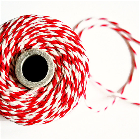 Super Chunky {24ply} Red Twine {10.0m} | Red White Bakers Twine or Cord