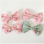 Floral fabric bows