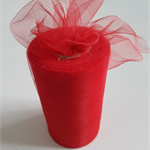 "Red Tulle 100yard roll x 6"" wide - tutu making"