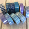 WASHI TAPE STARTER PACK COOL TONES 15MM X 10M - 10 ROLL SET FREE POST
