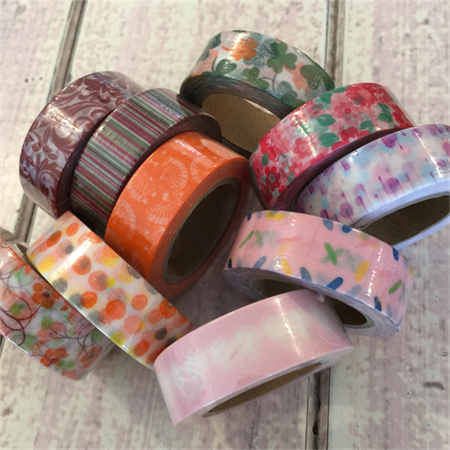WASHI TAPE STARTER PACK WARM TONES 15MM X 10M - 10 ROLL SET FREE POST