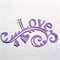 Set of 5 fancy decorative die cut love words
