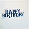 Set of 6 happy birthday die cut embellishment.