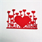 6 pretty die cut heart borders for card making and scrapbooking.