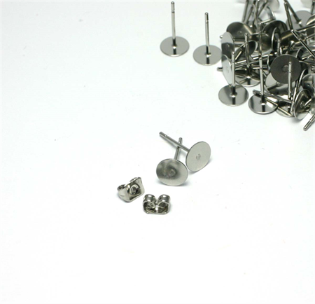 50pcs - 4mm Surgical Stainless Steel Studs & Butterfly Backs (25prs)