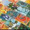 Aboriginal Art Ephemera, Dot Painting Paper Pack, scrapbooking and art diaries