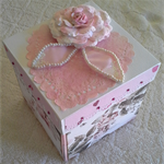 hand made card in a box