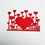 Die cuts, 6 heart embellishments for card making and scrapbooking.