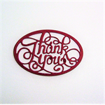 Set of 5 gorgeous die cut thank you embellishments.