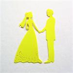 Charming 9 bride and groom die cut embellishments