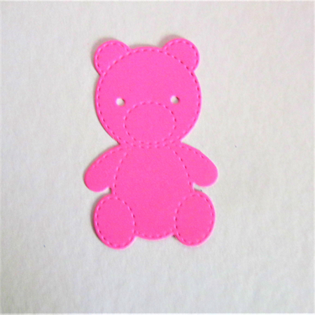 6 cute die cut teddy bear embellishments.