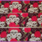 1 Metre, SKULLS, Rose, 25mm, Grosgrain Ribbon, 1 inch, Crafts