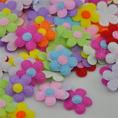 80 x Padded Felt Flower Applique