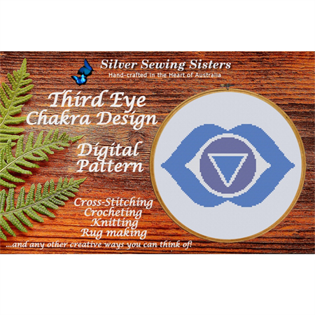 Third Eye Chakra Pattern~Cross Stitching,Knitting, Crocheting,Rug Making SE40006