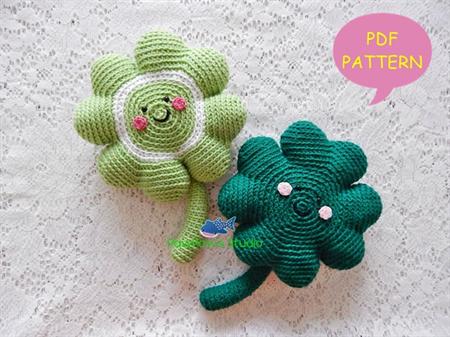 Pdf Amigurumi Four Leaf Clover Pattern Crochet Four Leaf Clover