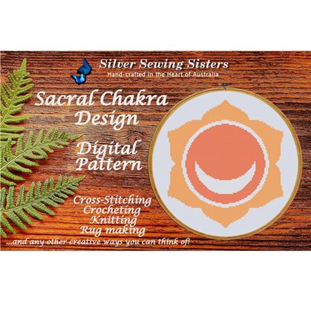 Sacral Chakra Pattern ~Cross Stitching, Knitting, Crocheting, Rug Making SE40002