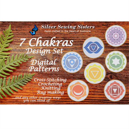 All 7 Chakras ~ Patterns for Cross Stitching, Knitting, Crocheting, Rug Making